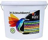RyFo Colors 2K flexible Dichtschlämme 20kg - Feuchtigkeits-Abdichtung, Wassersperre in Profiqualität für Balkon, Terrasse, Keller, Dusche und Fundament