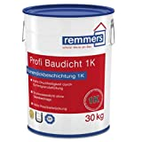 Remmers Profi Baudicht 1K, Lösemittelfreie, kunststoffmodifizierte Bitumendickbeschichtung mit Gummigranulatfüllstoff 1K , 30 Kg