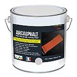 Bitumenfarbe ARCASPHALT : Bitumenanstrich - Asphaltfarbe - Teerfarbe - Kunstharzlack für Böden aus Bitumen, Asphalt, Teer - Grau - 3,75 kg, 7,5 m² für 2 Schichten