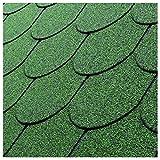 2,1 m² Dachschindeln Biberschwanz grün Bitumen-Schindeln