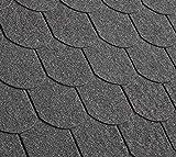 Gartenwelt Riegelsberger Premium Bitumenschindeln 3 m² Schwarz mit Glasvlieseinlage Dachschindeln Schindeln Biberschwanz 21 Stück